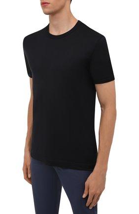 Мужская хлопковая футболка DOLCE & GABBANA темно-синего цвета, арт. G8JX7T/FU7EQ | Фото 3