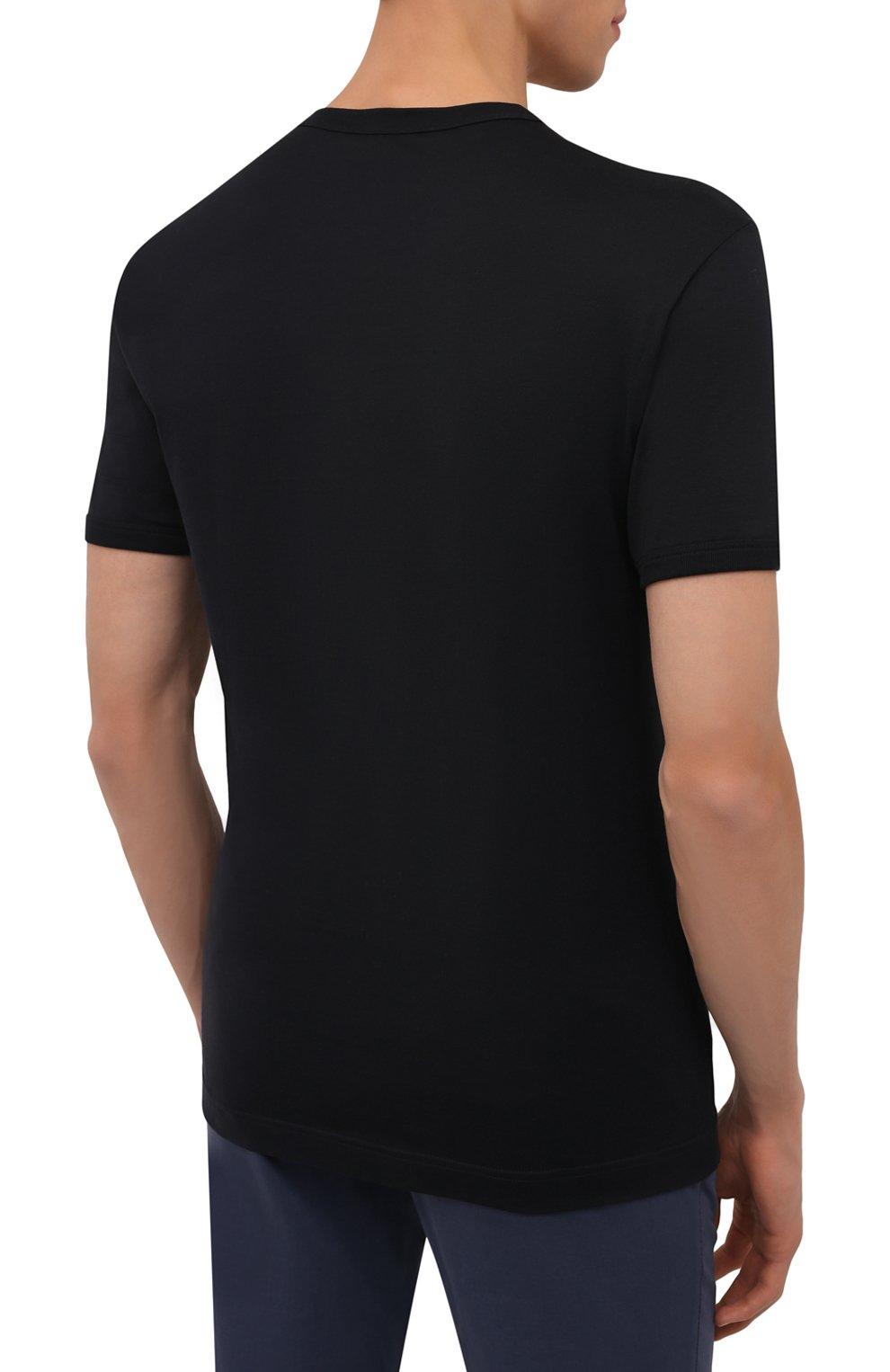 Мужская хлопковая футболка DOLCE & GABBANA темно-синего цвета, арт. G8JX7T/FU7EQ | Фото 4