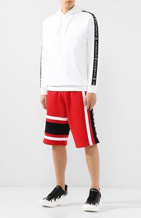 Мужские кожаные кроссовки ALEXANDER MCQUEEN черно-белого цвета, арт. 575421/WHT96 | Фото 2