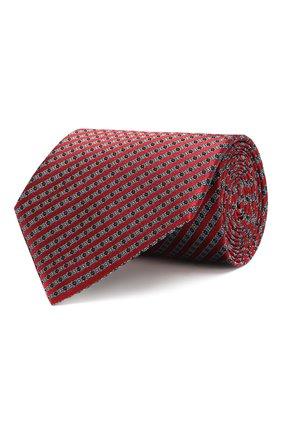 Мужской шелковый галстук ERMENEGILDO ZEGNA красного цвета, арт. Z6E04/1UM | Фото 1