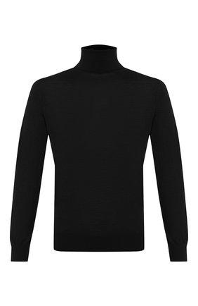 Мужской шерстяная водолазка ERMENEGILDO ZEGNA черного цвета, арт. UTM00/120 | Фото 1