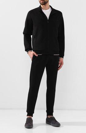 Мужская хлопковый кардиган Z ZEGNA черного цвета, арт. VT458/ZZ870 | Фото 2
