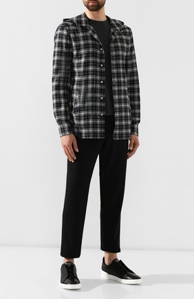 Мужской шерстяные брюки ERMENEGILDO ZEGNA черного цвета, арт. UTI11/TT12 | Фото 2