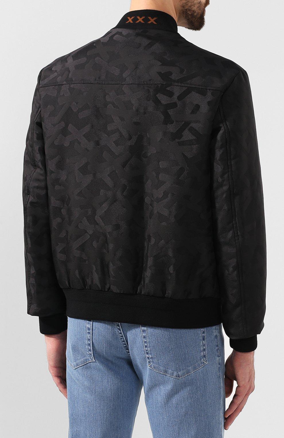 Мужской бомбер ZEGNA COUTURE черного цвета, арт. CTC90/6T137 | Фото 4