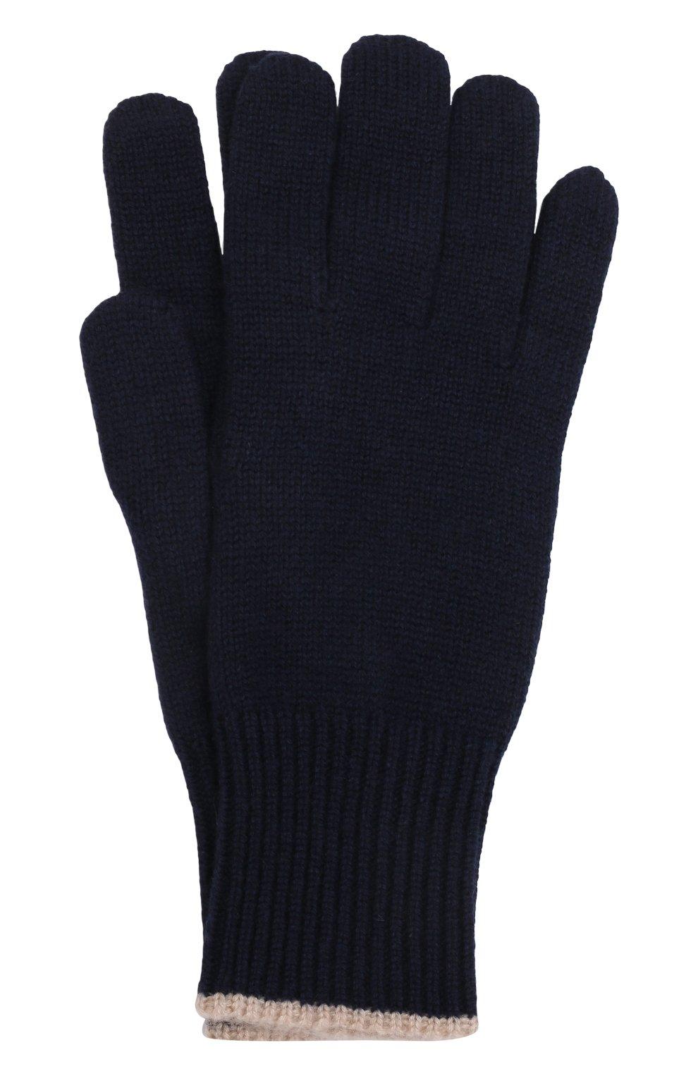 Мужские кашемировые перчатки BRUNELLO CUCINELLI темно-синего цвета, арт. M2293118   Фото 1