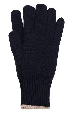 Мужские кашемировые перчатки BRUNELLO CUCINELLI темно-синего цвета, арт. M2293118 | Фото 1