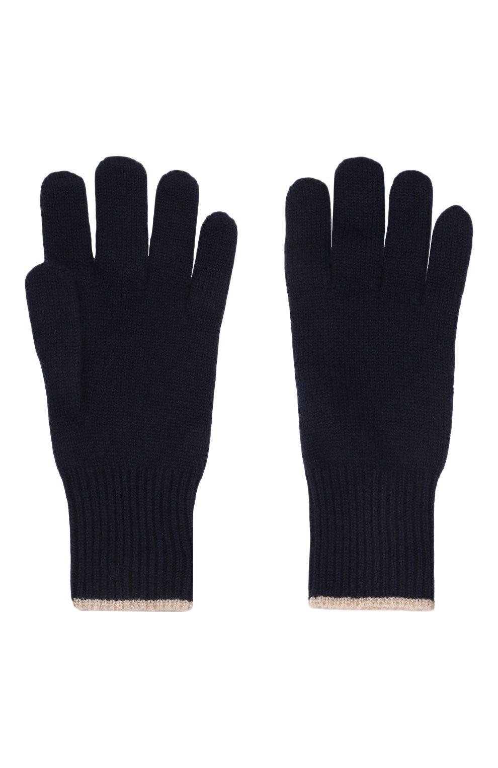 Мужские кашемировые перчатки BRUNELLO CUCINELLI темно-синего цвета, арт. M2293118   Фото 2
