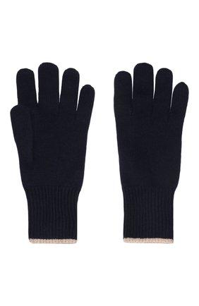 Мужские кашемировые перчатки BRUNELLO CUCINELLI темно-синего цвета, арт. M2293118 | Фото 2