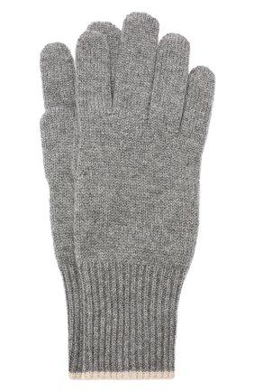 Мужские кашемировые перчатки BRUNELLO CUCINELLI темно-серого цвета, арт. M2293118 | Фото 1