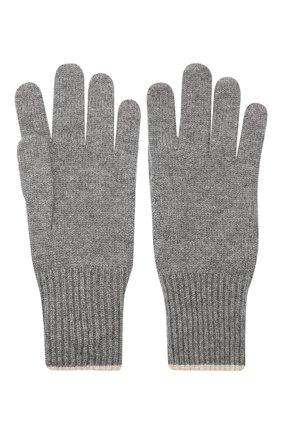 Мужские кашемировые перчатки BRUNELLO CUCINELLI темно-серого цвета, арт. M2293118 | Фото 2