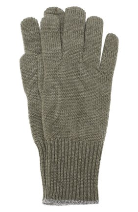 Мужские кашемировые перчатки BRUNELLO CUCINELLI хаки цвета, арт. M2293118 | Фото 1