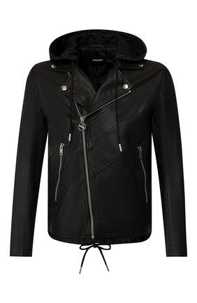 Мужская кожаная куртка DIESEL черного цвета, арт. 00SUDC/0JAUW | Фото 1