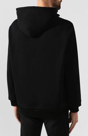 Мужской хлопковое худи DIESEL черного цвета, арт. 00SHEF/0NAUW | Фото 4