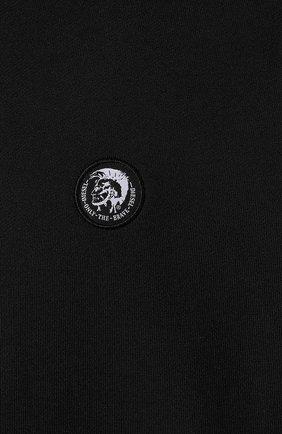 Мужской хлопковое худи DIESEL черного цвета, арт. 00SHEF/0NAUW | Фото 5