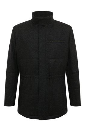 Мужская кашемировая куртка KITON темно-серого цвета, арт. UW0608MV03S04 | Фото 1