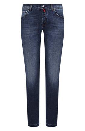 Мужские джинсы KITON синего цвета, арт. UPNJS/J03S51 | Фото 1