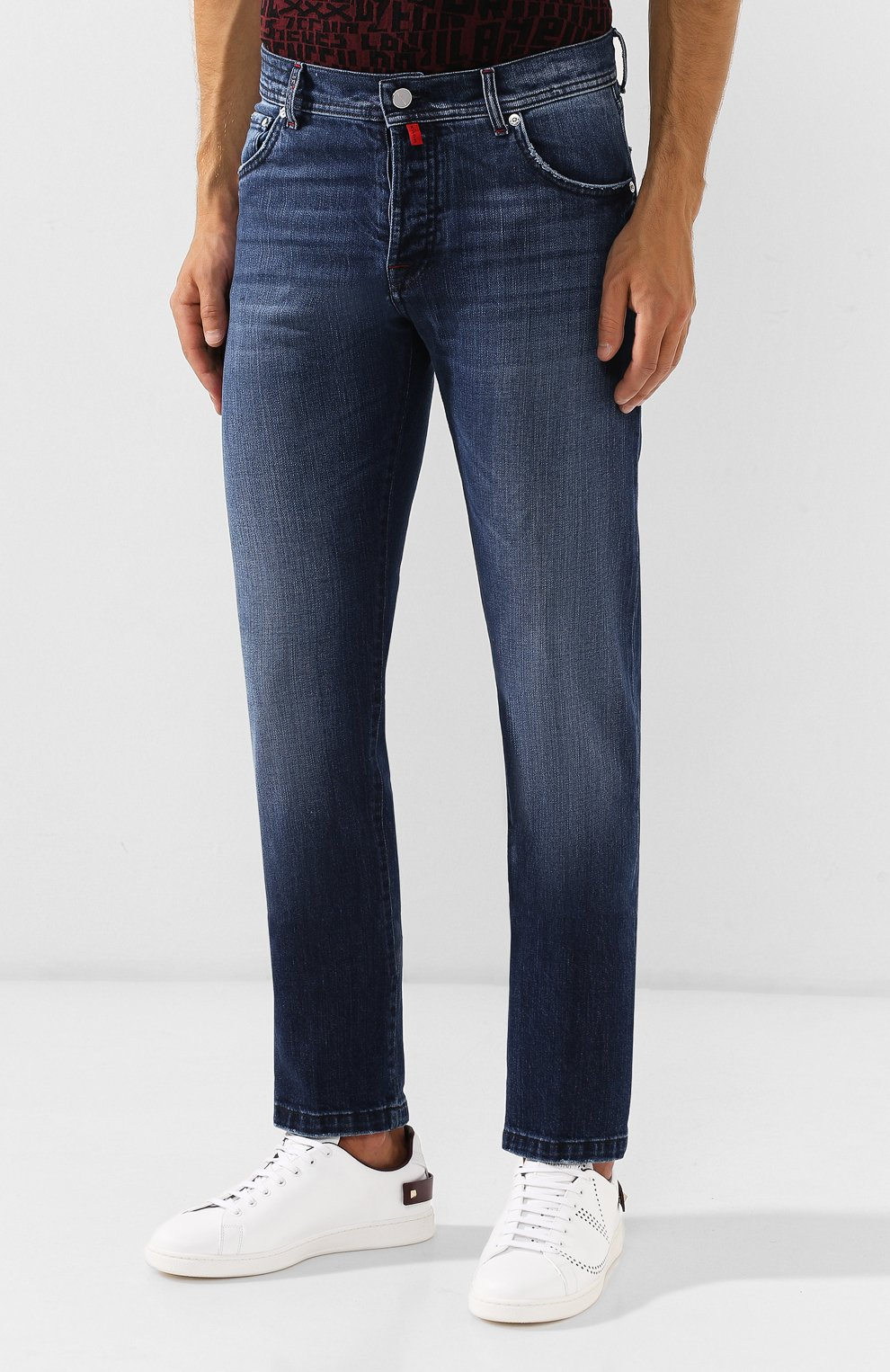 Мужские джинсы KITON синего цвета, арт. UPNJS/J03S51 | Фото 3
