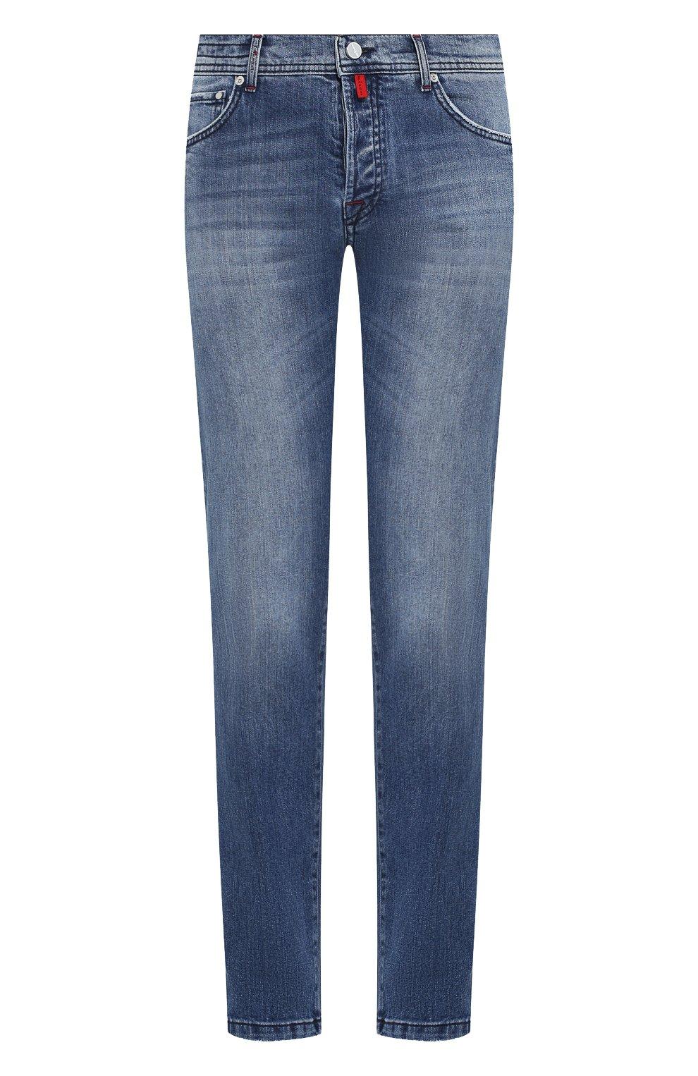 Мужские джинсы KITON голубого цвета, арт. UPNJS/J03S51 | Фото 1
