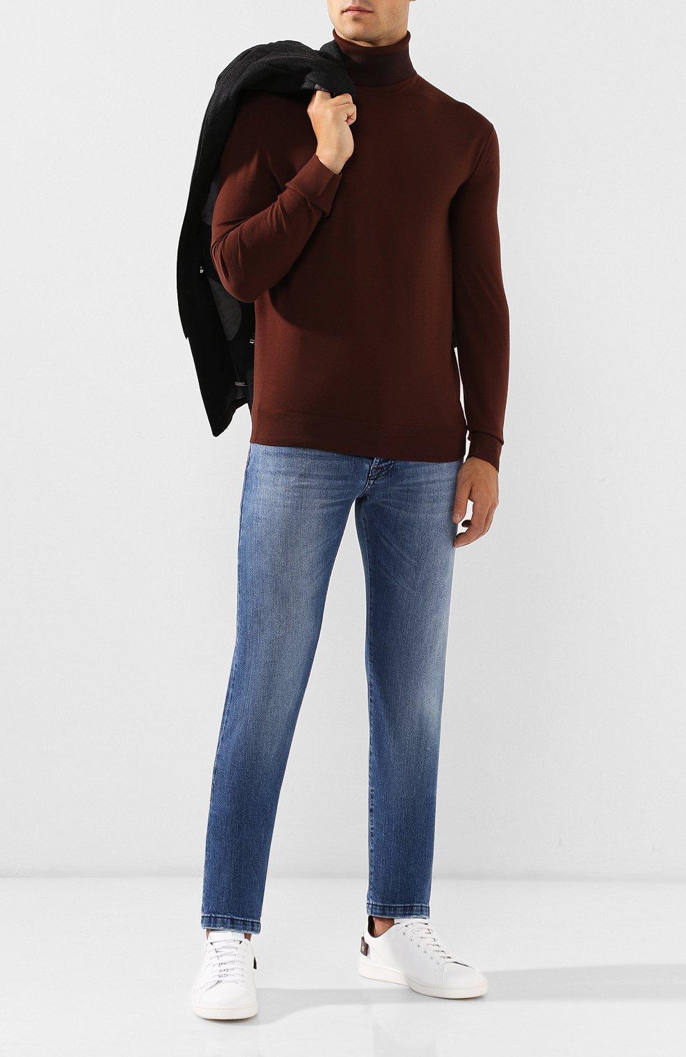 Мужские джинсы KITON голубого цвета, арт. UPNJS/J03S51 | Фото 2