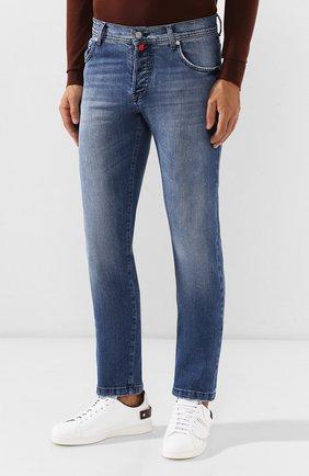 Мужские джинсы KITON голубого цвета, арт. UPNJS/J03S51 | Фото 3