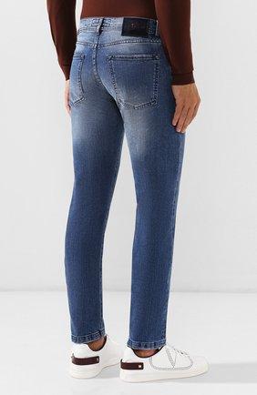 Мужские джинсы KITON голубого цвета, арт. UPNJS/J03S51 | Фото 4