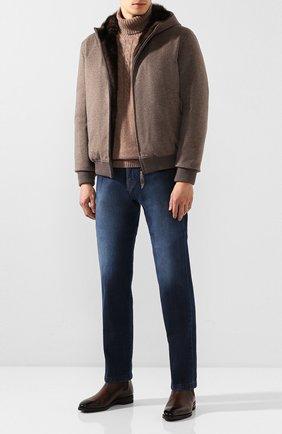 Мужские джинсы KITON синего цвета, арт. UPNJS1/J03S54 | Фото 2