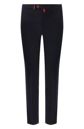 Мужской шерстяные брюки KITON темно-синего цвета, арт. UFPP79K01S48 | Фото 1