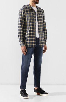 Мужские джинсы KITON синего цвета, арт. UFP1LAC/J03S86 | Фото 2