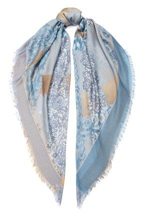 Шаль Azulejos из кашемира и шелка | Фото №1