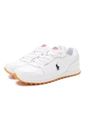 Женские кожаные кроссовки POLO RALPH LAUREN белого цвета, арт. 804752873 | Фото 1 (Подошва: Платформа; Статус проверки: Проверена категория)