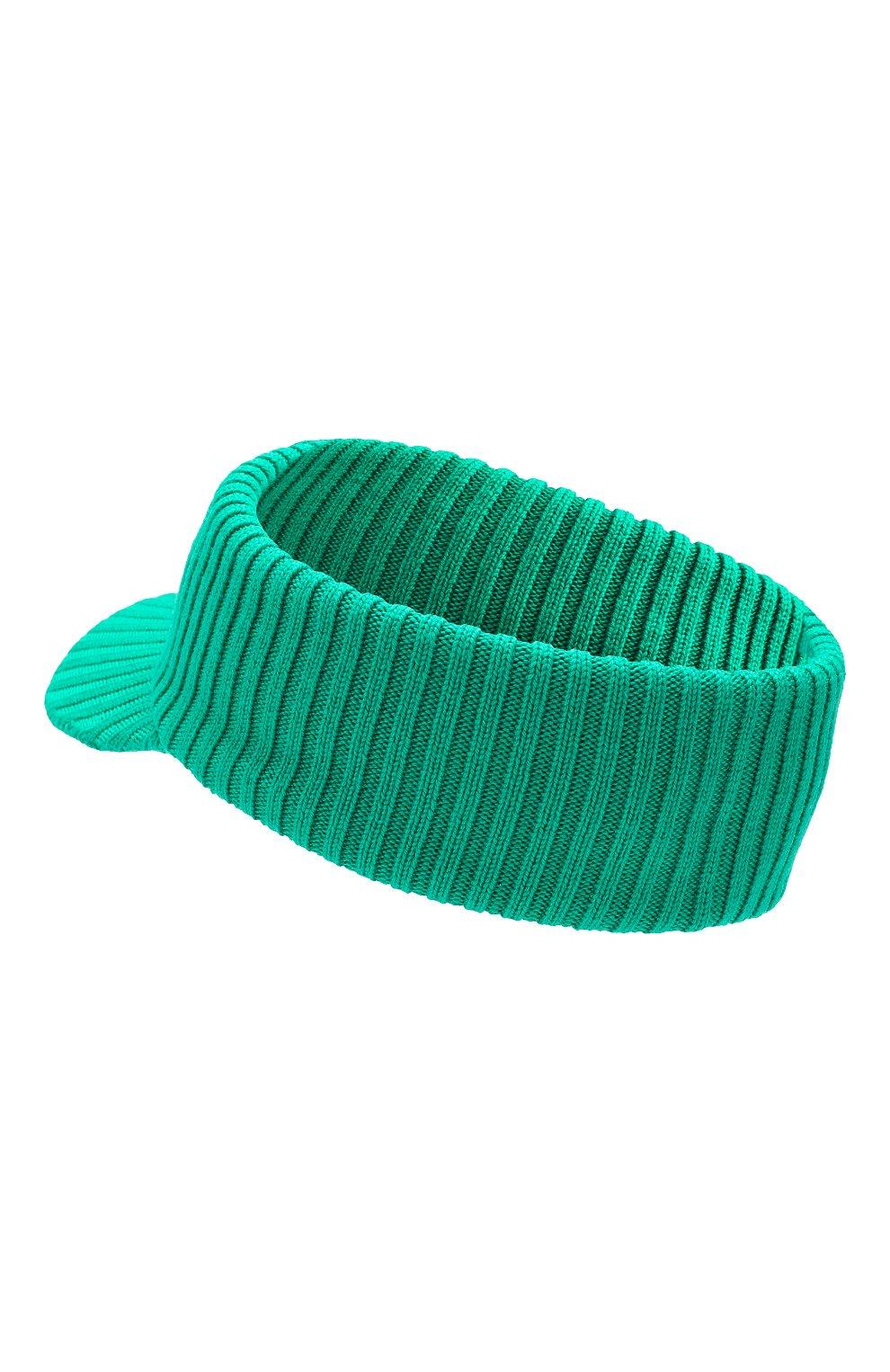 Женский шерстяной козырек GUCCI зеленого цвета, арт. 577825/3GD55 | Фото 2