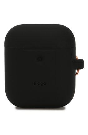 Чехол для airpods wireless ELAGO черного цвета, арт. EAP2SC-HANG-BK   Фото 1 (Статус проверки: Проверена категория)