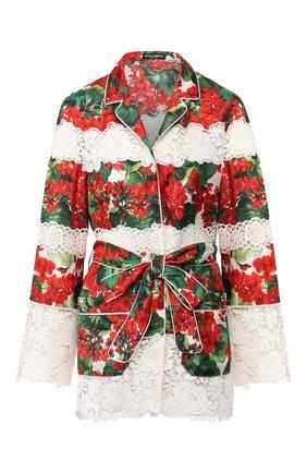 Блузка из смеси хлопка и шелка | Фото №1