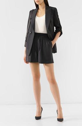 Женские шерстяные шорты BRUNELLO CUCINELLI серого цвета, арт. M0W07P7018 | Фото 2