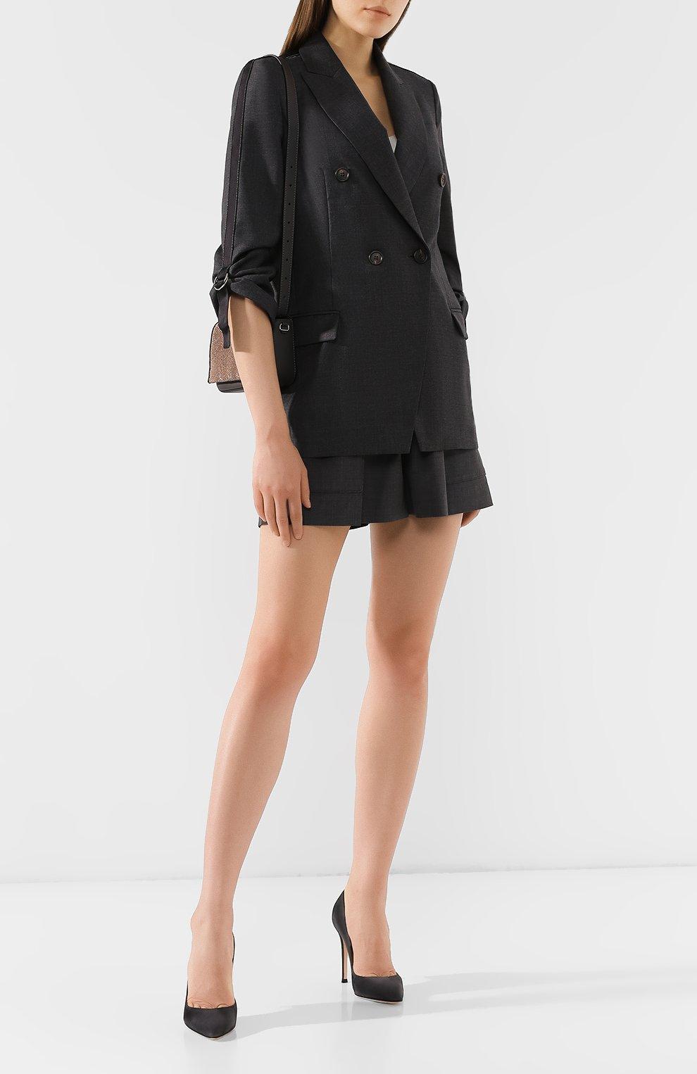 Женский шерстяной жакет BRUNELLO CUCINELLI серого цвета, арт. M031P8820   Фото 2