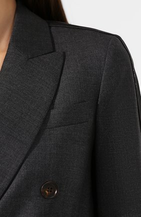 Женский шерстяной жакет BRUNELLO CUCINELLI серого цвета, арт. M031P8820   Фото 5