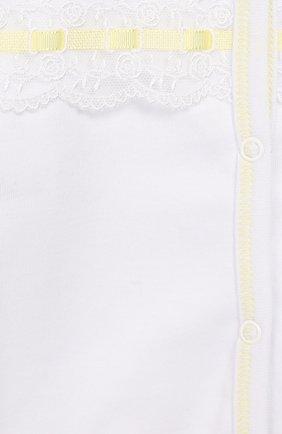 Комплект на выписку из шелка Нежный шартрез | Фото №2
