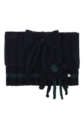 Детский шарф- хомут ALETTA синего цвета, арт. ZF999858C0L | Фото 1