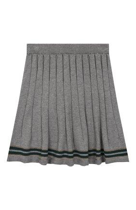 Детская юбка из хлопка и кашемира ALETTA серого цвета, арт. AKF999453/4A-8A | Фото 1