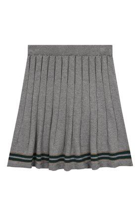 Детская юбка из хлопка и кашемира ALETTA серого цвета, арт. AKF999453/9A-16A | Фото 2