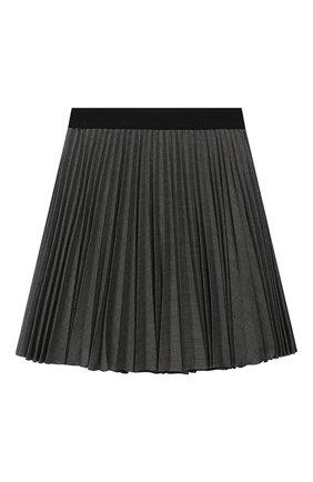 Детская плиссированная юбка ALETTA темно-серого цвета, арт. AF999353LL/4A-8A | Фото 1