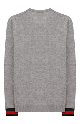 Детский шерстяной пуловер GUCCI серого цвета, арт. 418774/X1284 | Фото 2