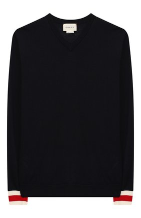 Детский шерстяной пуловер GUCCI синего цвета, арт. 418774/X1284 | Фото 1