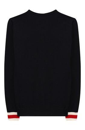Детский шерстяной пуловер GUCCI синего цвета, арт. 418774/X1284 | Фото 2