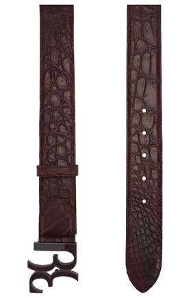 Мужской кожаный ремень BILLIONAIRE коричневого цвета, арт. MVA0436 | Фото 2