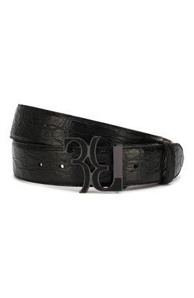 Мужской кожаный ремень BILLIONAIRE черного цвета, арт. MVA0436 | Фото 1