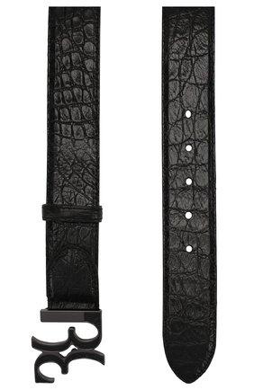 Мужской кожаный ремень BILLIONAIRE черного цвета, арт. MVA0436 | Фото 2