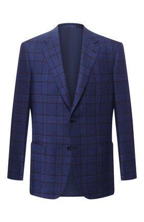 Мужской кашемировый пиджак BRIONI синего цвета, арт. RGH00S/08362/PARLAMENT0 | Фото 1