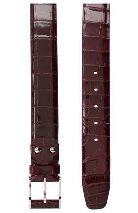 Мужской кожаный ремень ZILLI бордового цвета, арт. MJL-CLAQE-01011/0819/AMIS | Фото 2