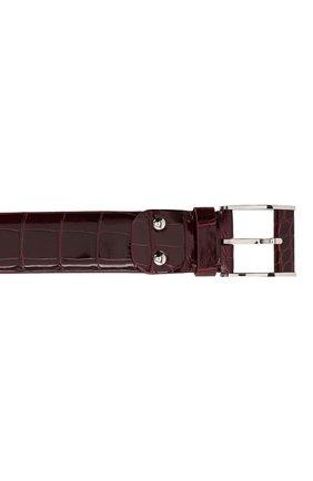 Мужской кожаный ремень ZILLI бордового цвета, арт. MJL-CLAQE-01011/0819/AMIS | Фото 3